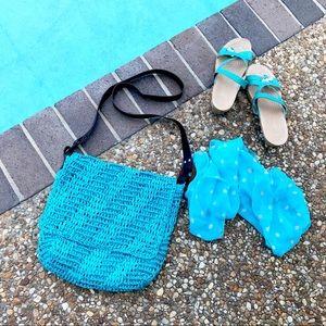 Handbags - 💎Turquoise Bag Woven Material💎